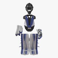 hockey goalie protection kit 3d model