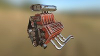 3d model hot rod motor