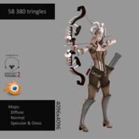 3d blender huntress
