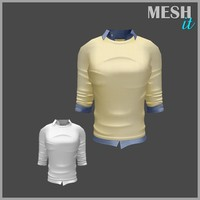 male sweater yellow 3d 3ds