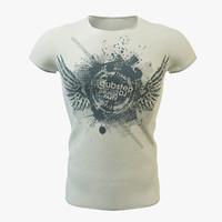 shirt t-shirt 3d model