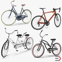 3d rigged bikes model