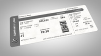 3d model boarding pass