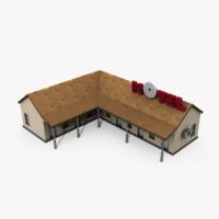 3d motel building model