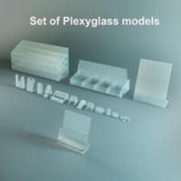 3d model plexiglass set