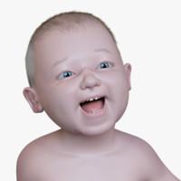 toddler baby boy 3d model