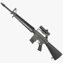M16A1 Assault Rifle 3D models