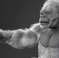 3d obj gorilla fur