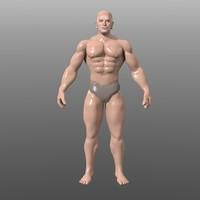 bodybuilder 3d obj