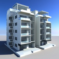 building apartment house 3d model