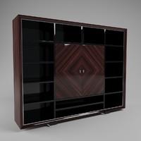 3d model jendycarlo a6-21 bookcase