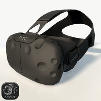 HTC Vive headset low poly