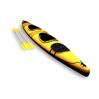 3d kayak boats sporting model