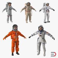 3d model astronauts 4