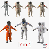 space suits 3 3d 3ds