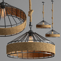 Hanging lamp loft Country