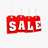 3d hanging sale tag model
