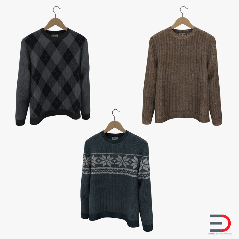 Sweaters on Hanger Collection 3d models 01.jpg