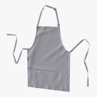 3d cafe apron model