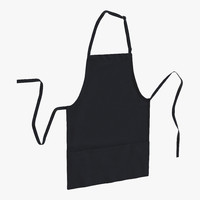 cafe apron black 3d max