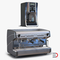 coffee machines 3d c4d