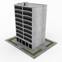 3d model of office build 02