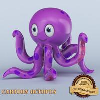 3d cartoon octopus