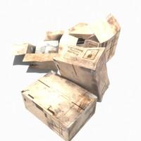 3d 3ds box pile