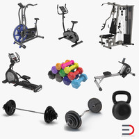 3ds gym set dumbbell