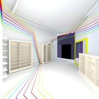 design sports shop 3d max