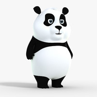 cartoon panda 3d model
