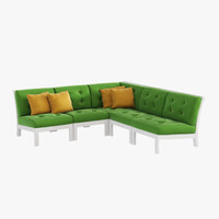 3d outdoor furniture sofa interior model