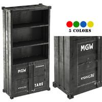 3d max sea container bookcase 5