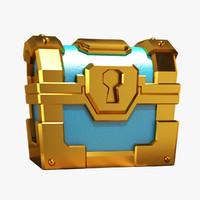 clash gold chest 3d model