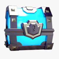 clash super magical chest 3d max