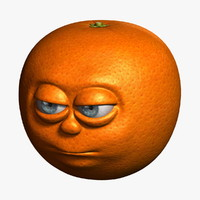 orange cartoon obj