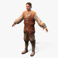 medieval peasant 3d max