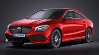 3d mercedes-benz cla 2017