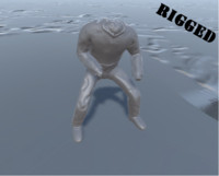 Headless Zombie Rigged