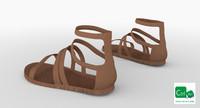 3d roman women sandals model