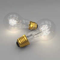 edison light bulb 3d model
