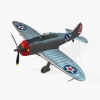 3d model american p-43 lancer