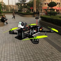 3d lumenier 250 drone gopro model