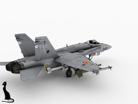 3d spanish f-18 model