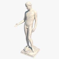 statue ephebe 3d obj