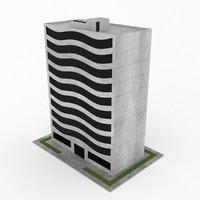 3d model office build 07