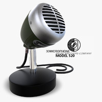 3d max microphone shure 520