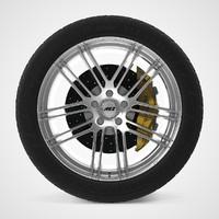 car wheel aez cliff 3d model