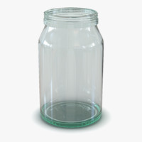 3d obj glass jar