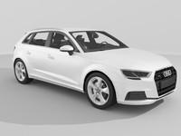 audi a3 sportback 2017 3d model